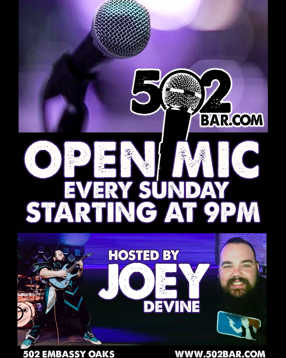 502 Bar Open Mic hosted by Joey Devine