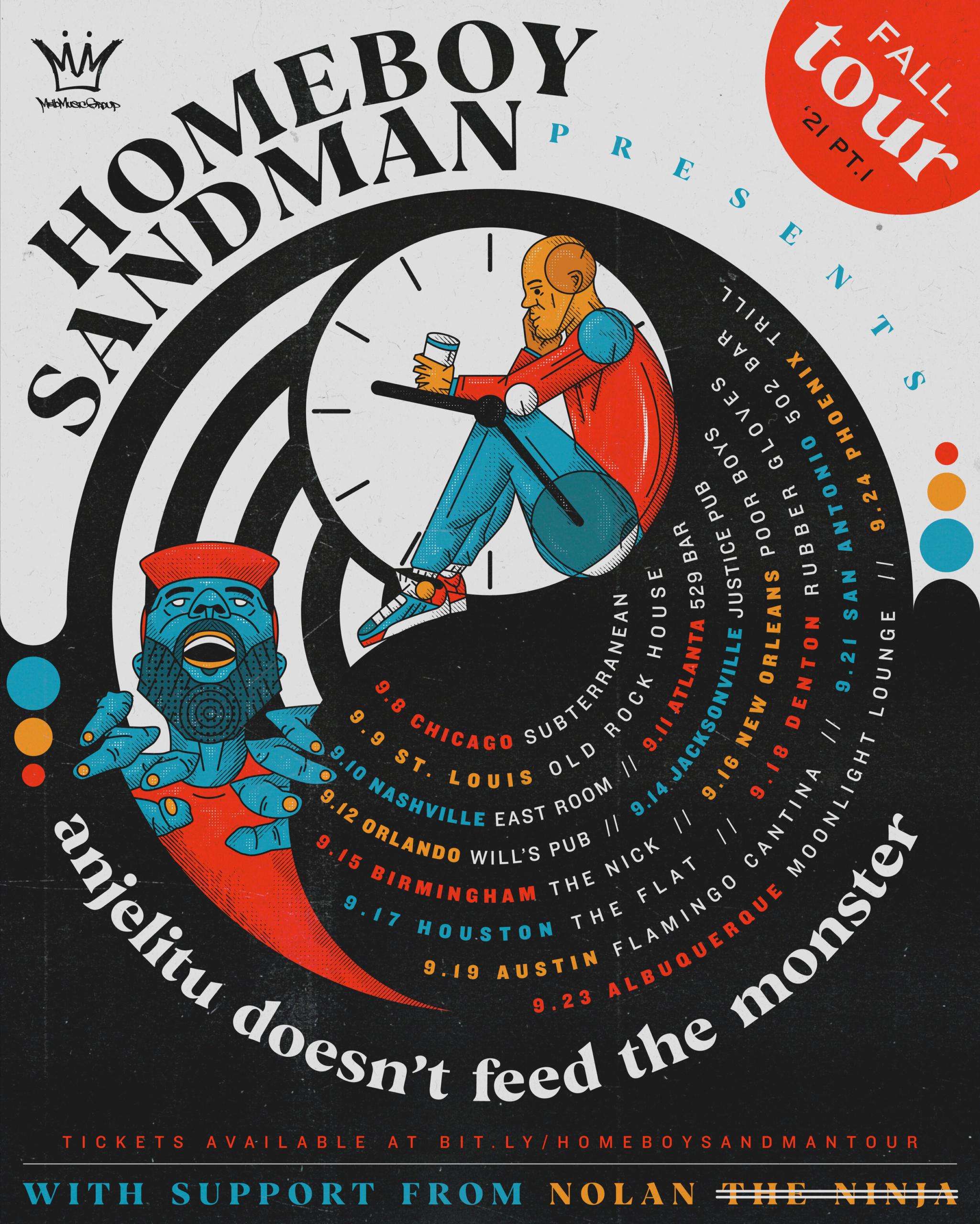 Homeboy Sandman and Sandman 2021 Tour